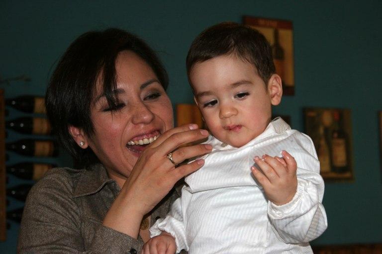 mama y nene felices